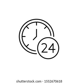 Time and clock icon, speed, alarm, restore, management, watch thin line symbols for web and mobile phone on white background - editable stroke vector illustration eps10