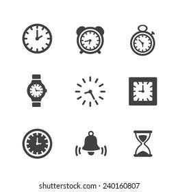 Time Clock Icons Set