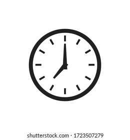 Time clock isolated icon for wab design. Simple vector illustration