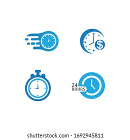 Time concept icon illustration vector flat design