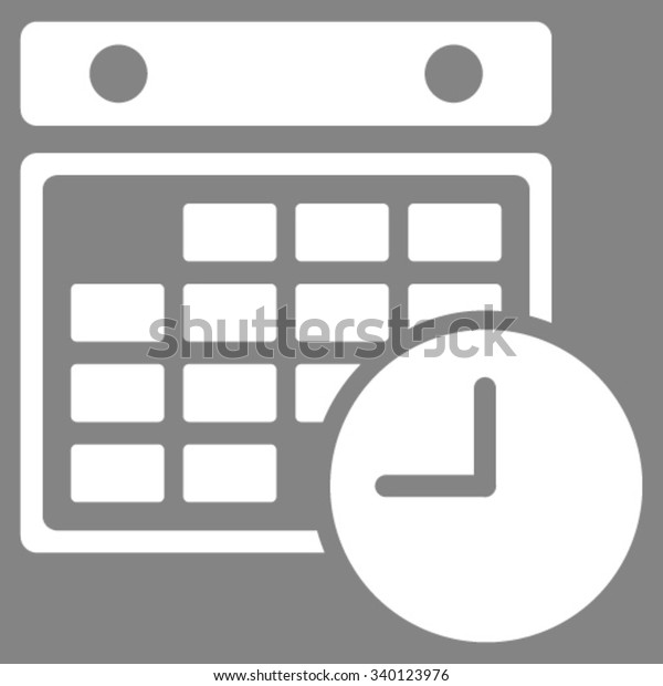 Time Dataset Vector Icon Style Flat Stock Vector (Royalty