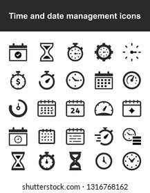 Time and date management icons