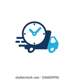 Time Delivery Logo Icon Design