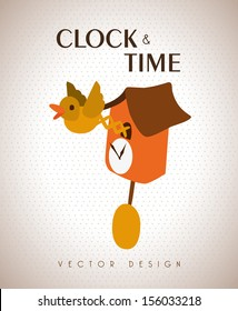 time design  over beige background vector illustration