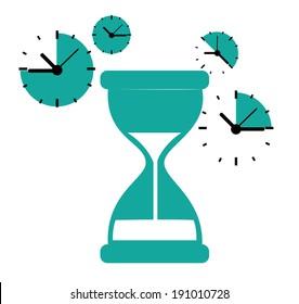 Time design over white background, vector illustration