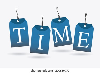 time design over white  background vector illustration