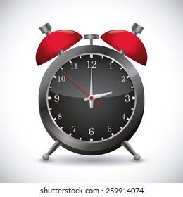 Time design over white background, vector illustration.