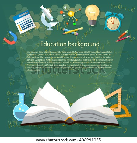 time education open book school subjects のベクター画像素材
