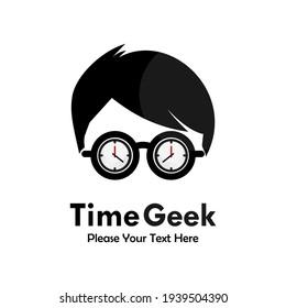 Time geek logo template illustration