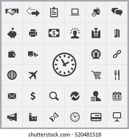 time icon. B2B icons universal set for web and mobile