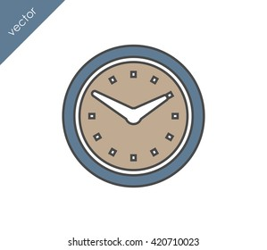 Time icon. clock icon.