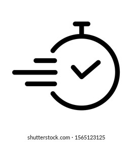 Time icon design. Task time icon in modern outline style design. Vector illustration. Vector illustration.