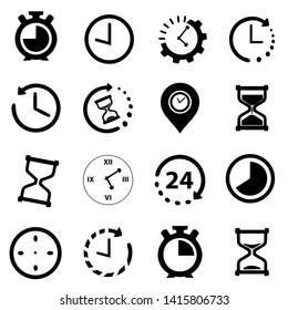 Time icon illustration, set of Clock symbol collection vector