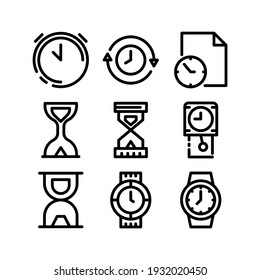 time icon or logo isolated sign symbol vector illustration - Collection of high quality black style vector icons