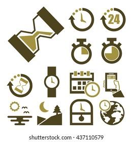 time icon set