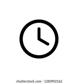 Time icon vector. Clock icon vector