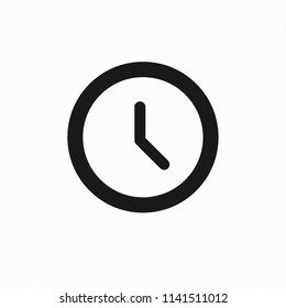 Time icon vector, Clock sign, web symbol