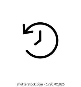 Time icon vector. Clock icon symbol