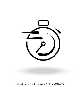 time icon vector. Fast time vector icon. Deadline icon vector.