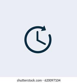 Time icon,Clock icon vector