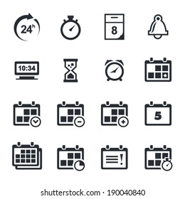 Time icons set
