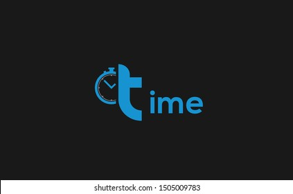 TIME letter Logo Design Template Vector
