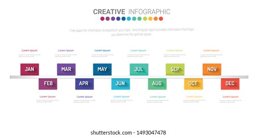 12 Month Chart Images, Stock Photos & Vectors | Shutterstock