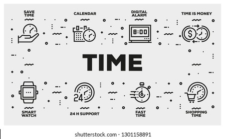 TIME LINE ICON SET