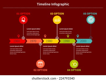 Time line Infographic business with diagrams. With set of Icons. Vector design