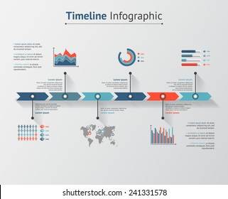 Time line infographic. Vector illustration