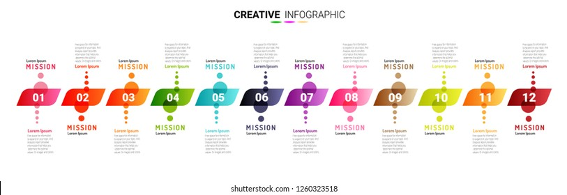 Time line, Presentation business can be used for Business concept with 12 options, Timeline business for 12 months, 1 year, Timeline infographics design vector, steps or processes.