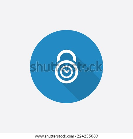 Time Lock Flat Blue Simple Icon Stock Vector (Royalty Free