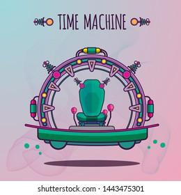 Time Machine future vector illustration