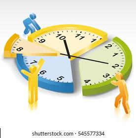 Time Management Clock Slices