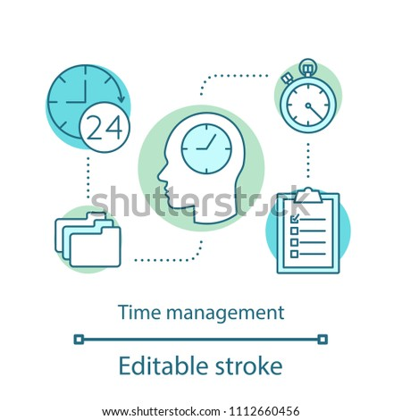 Time Management Concept Icon Time Tracker Stock Vector (Royalty Free