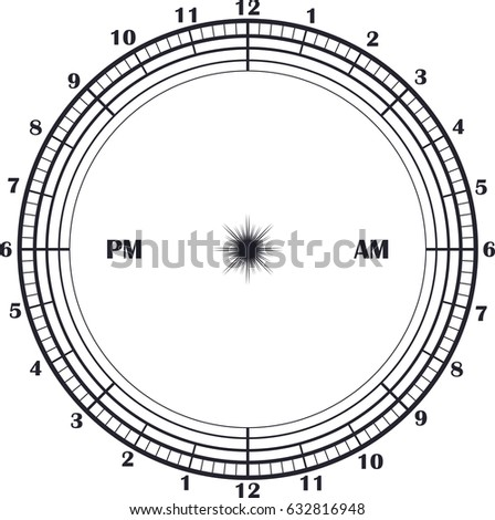 time management daily planner clock 24 stock vector royalty free