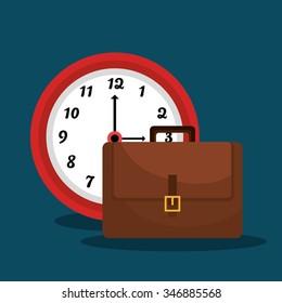 Time management graphic design, vector illustration eps10