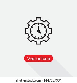 Time Management Icon, Productivity Sign,Efficiency Sign Vector Illustration Eps10
