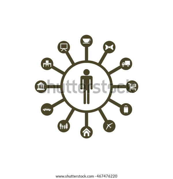 Time Management Icon Vector Stock Image Download Now