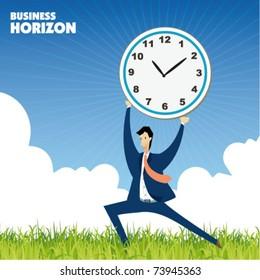 time management sign - business concept