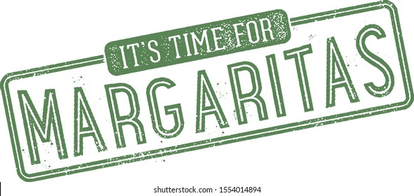 It's Time for Margaritas Cocktail Stamp