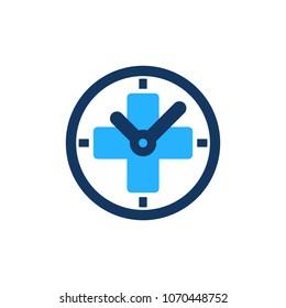 Time Medical Logo Icon Design