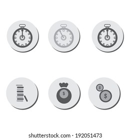 Time is money icon, vector