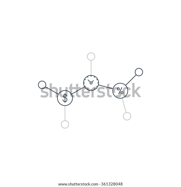 Time Money Savings Account Stock Vector (Royalty Free) 361328048
