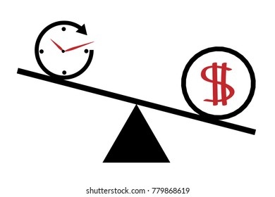 Time is Money Vector Icon A little time is spent a lot of money earned