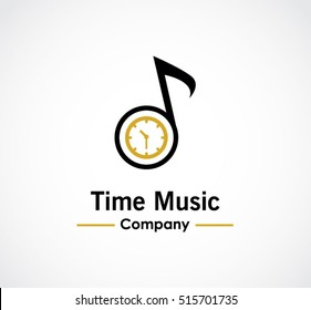 Time music of entertainment abstract vector and logo design or template tune business icon of company identity symbol concept