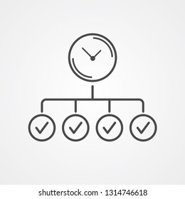 Time planing vector icon sign symbol