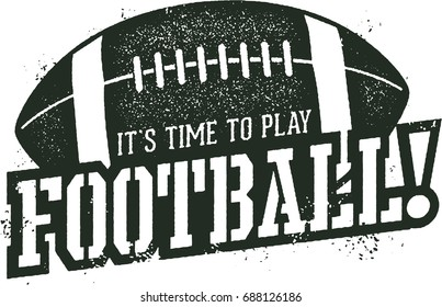 Time to Play Football Sports Stamp