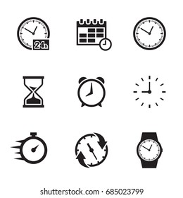 Time related icons set