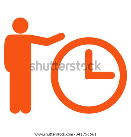 Time Show Vector Icon Style Flat Stock Vector (Royalty Free